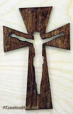"TimsWoodArt Crucifix Wood Cross, Item S3-12, My most pinned Cross can be purchased by clicking The above link ""Learn more on ebay.com"""