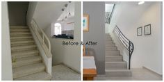 before and after staircase