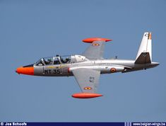 Magister MT35, the last Belgian Air Force Fouga to fly operationally.