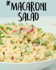 Classic #Macaroni #Salad with Light #Mayonnaise #Tastyvideos #tastyfoodvideos