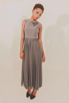 Alluvial Dream Dress - Grey with Black Embroidery – Blackeyed Susan Summer 2014, Spring Summer, Garment Of Praise, Dream Dress, Free Spirit, Mother Of The Bride, Bride Groom, Midi Skirt, Bridesmaid
