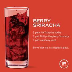 UV Vodka Recipe: Berry Sriracha