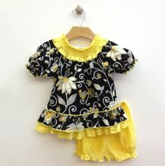 Baby Puff Sleeve Dress and Puff Panty #totsy