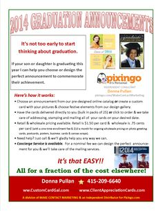 Info about how to order graduation announcements.