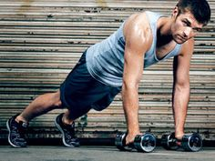 Skinny To Spartacus workout, Mens Health magazine.  Works for the ladies too! I've done it--great fast workout...can make it thru one rotation in 15 mins.  I think they recommend 2 rotations.