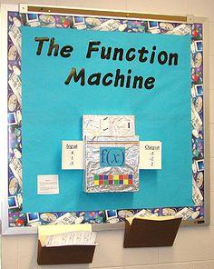 awesome algebra bulletin board-interactive