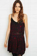 Ecote Apricot Dress in Black at Urban Outfitters