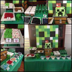 Minecraft party by amberslittlecupcakery