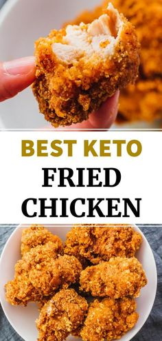 Fried Chicken Breast, Fried Chicken Recipes, Baked Chicken, Boneless Chicken, Oven Chicken, Carbs In Fried Chicken, Healthy Breaded Chicken, Oven Fried Chicken Thighs, Low Carb Chicken Wings