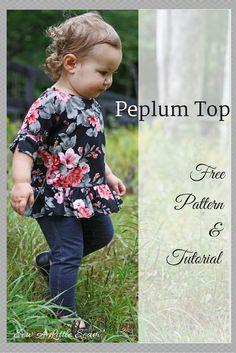 Peplum top tutorial and pattern