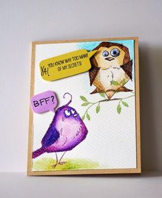 Periwinkle Creations: Crazy Birds - Tim Holtz