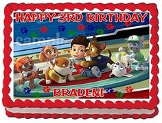 PAW PATROL #2 CAKE TOPPER DECORATION IMAGE BIRTHDAY PARTY