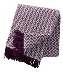 Klippan Lilac Tango Lambs Wool Throws