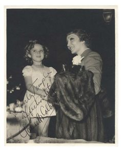 Love, Shirley Temple, Collector's Book: Lot # 372 Two Autographed Photographs from Claudette Colbert to Shirley Temple
