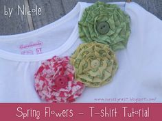 Spring T-Shirt Tutorial -- These little flowers would be cute on lots of things. Easy and different! :-)