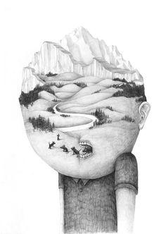 Drawings 2012 part 4 by Stefan Zsaitsits, via Behance