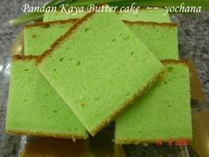 Yochana's Cake Delight! : Pandan Kaya Butter cake