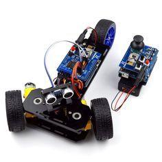 New DIY Wireless Telecontrol Three-wheeled Smart Car Robot Kit for Arduino 2.4G #Adeept