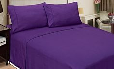 All Things Purple, Purple Stuff, Purple Bedding, Queen Sheets, Bedding Websites, Purple Reign, Bed Styling, Flat Sheets, Sheet Sets