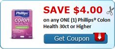 Tri Cities On A Dime: SAVE $4.00 ON ANY PHILLIPS COLON HEALTH - 30 CT OR...
