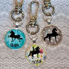 Handbag/backpack charms are so popular right now, and this one is made just for you!  Choose your background, your horse style, and add an optional monogram if you like.