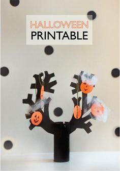 DIY Halloween Crafts : DIY Printable Halloween Haunted Forest!