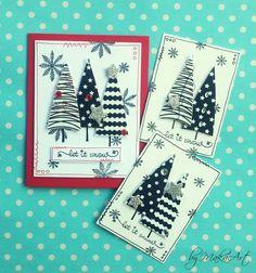 """Black & White Christmas cards and ATCs + photo tutorial... Môjaktuálny príspevok na ScrapArt.cz   prináša """"inšpiráciu"""" v podobe pokusu o simple clean nad šenca  mixed media techniky. Ponúkam ajk..."""