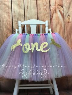 Super Ideas for birthday party baby girl ideas high chairs Unicorn Birthday Parties, 1st Birthday Girls, Unicorn Party, First Birthday Parties, Birthday Party Decorations, First Birthdays, Birthday Ideas, Birthday Board, High Chair Tutu
