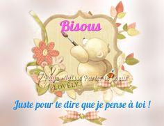 Juste pour te dire que je pense à toi ! Bisous #jepenseatoi ours ourson fleurs