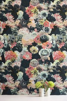 Wall Bouquet - 15 Floral Wallpapers That Are Groundbreaking - Photos