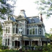 Home Design. Amazing Second Empire Mansard Victorian House Come With Wrap Around Porch And Tall Clear Glass Sash Windows And Gray Painted Wall Paneling. Wonderful Victorian Style House Design Ideas