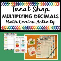 Cute and easy-to-prep math center for 3rd-5th grade.  Practice multiplying decimals by whole numbers with this engaging center!