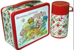 My Strawberry Shortcake lunch box and thermos. :)