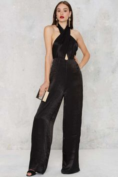 Nasty Gal Heaven On Earth Pussybow Jumpsuit | Shop Clothes at Nasty Gal!