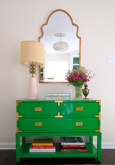 Bright and fresh vignette for a young family.  -RLR Interiors
