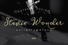 Stevewondermodern and elegant style script is so you use to create typography creations such as: invitations, album covers, book covers, magazine titles models, wedding, quote, branding, business cards, logo type, and others.