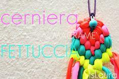 ciondolo con cerniera e fettuccia Macrame Knots, T Shirt Yarn, Couture, Jewerly, Collars, Knit Crochet, Crochet Necklace, Crafty, Knitting