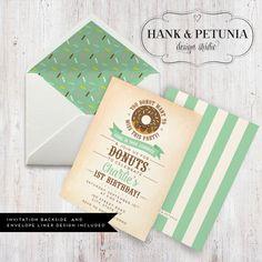 Donut Birthday Party Invitation by HankandPetunia on Etsy