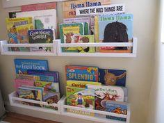 everyday organizing: Pinned It, Did It! IKEA Spice Rack Bookshelves