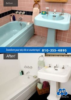 Don't replace - refinish! : Looking to refinish old bathtubs in your home? Do it…