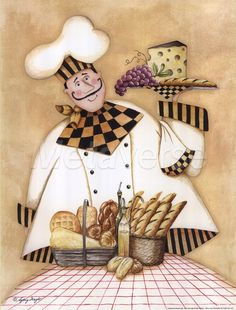 Italian Cheese And Bread Kitchen Chef Framed Picture Fat Chef Kitchen Decor, Chef Pictures, Bread Kitchen, Kitchen Artwork, Kitchen Pics, Foto Transfer, Italian Chef, Le Chef, Food Illustrations