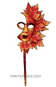 Venetian Leaf Stick Mask