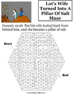 Lot's wife turned into a pillar of salt coloring page sunday Dead Sea Coloring Page Nehemiah Coloring Page Lot Chooses First Craft Preschool