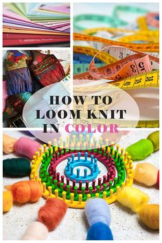 How to loom knit with color