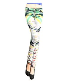 Painted Jeans Pants :