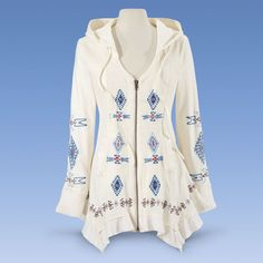 Lillianna Embroidered Jacket - Women's Clothing & Symbolic Jewelry – Sexy, Fantasy, Romantic Fashions