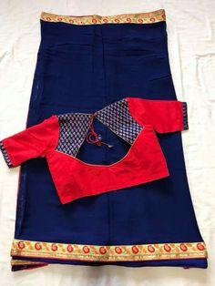 Designer Blouse Designs for Women - ArtsyCraftsyDad - dress - Cotton Saree Blouse Designs, Salwar Neck Designs, Simple Blouse Designs, Stylish Blouse Design, Simple Designs, Designer Blouse Patterns, Blouse Models, Blouses, Sarees