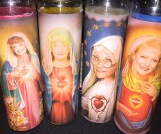 Say your prayers and count your blessings with these Golden Girls prayer candles. Your favorite senior citizen gal pals are back dressed in their finest robes and ready to listen to your woes while helping make your prayers come true.