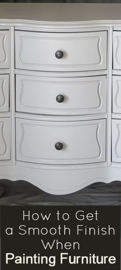 Ever wonder How to Get a Smooth Finish When Painting Furniture? Check out these tips and ideas to help you with that DIY furniture painting project!