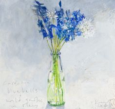 Bluebells and wild garlic in May. in KURT JACKSON from The Redfern Gallery